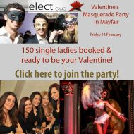 Valentines Masquerade Ball in Mayfair